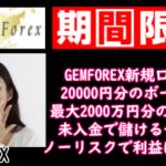 GEMFOREX20000円口座開設ボーナス日付なし